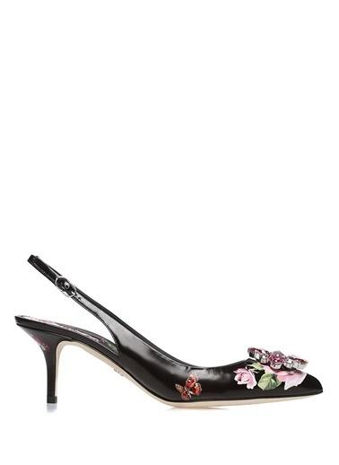 %100 Deri Sivri Burun Ayakkabı-Dolce&Gabbana